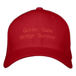 Golden Gate Bridge Survivor Walked Biked both ways Embroidered Hat