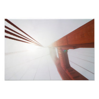 Golden Gate Bridge Tower and supports Photographic Print