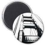 Golden Gate Bridge Tower(o) 6 Cm Round Magnet