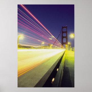 Golden Gate Bridge, traffic lights, San Poster