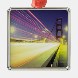 Golden Gate Bridge, traffic lights, San Silver-Colored Square Decoration