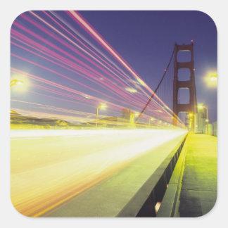 Golden Gate Bridge, traffic lights, San Square Sticker