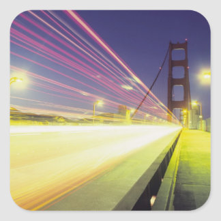 Golden Gate Bridge traffic lights San Square Stickers