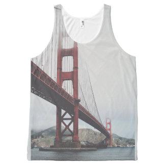 Golden Gate Bridge Unisex Tanktop All-Over Print Tank Top
