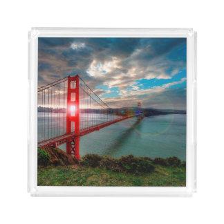 Golden Gate Bridge with Sun Shining through.