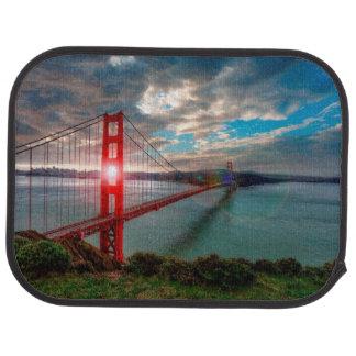 Golden Gate Bridge with Sun Shining through. Car Mat