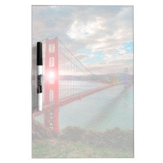 Golden Gate Bridge with Sun Shining through. Dry Erase Board