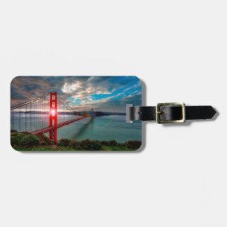 Golden Gate Bridge with Sun Shining through. Luggage Tag