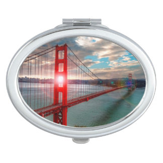 Golden Gate Bridge with Sun Shining through. Vanity Mirrors