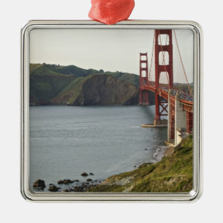 Golden Gate bridge with view to Marin County Christmas Ornament