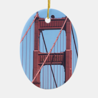 Golden Gate Christmas Ornament
