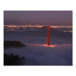 Golden Gate Covered in Fog Photograph