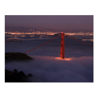 Golden Gate Covered in Fog Post Cards