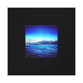 Golden Gate Edit Canvas Stretched Canvas Print
