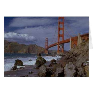 Golden Gate from the Pacific Greeting Card