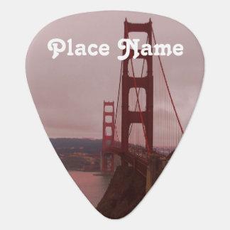 Golden Gate Guitar Pick