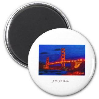 Golden_Gate_Poster jpg Refrigerator Magnets