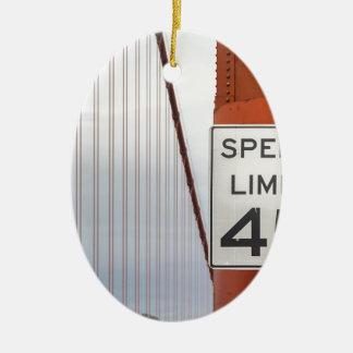 golden gate speed limit ceramic oval decoration