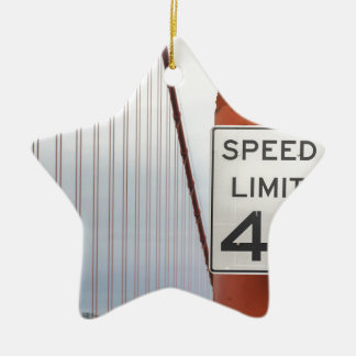 golden gate speed limit ceramic star decoration