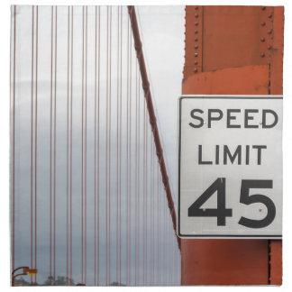 golden gate speed limit napkin
