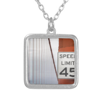 golden gate speed limit silver plated necklace
