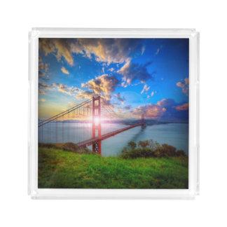 Golden Gate Sunrise Acrylic Tray