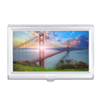Golden Gate Sunrise Business Card Holder
