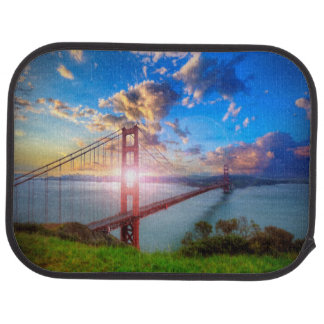 Golden Gate Sunrise Car Mat