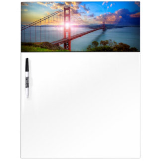 Golden Gate Sunrise Dry Erase Board