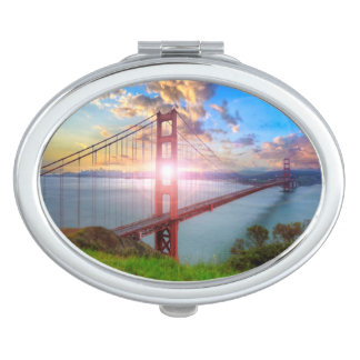 Golden Gate Sunrise Makeup Mirror