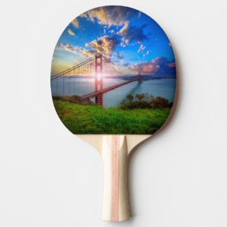 Golden Gate Sunrise Ping Pong Paddle