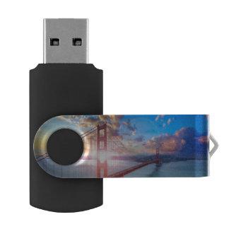 Golden Gate Sunrise USB Flash Drive