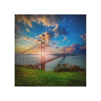 Golden Gate Sunrise Wood Wall Art