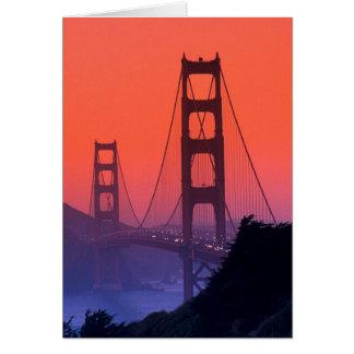 Golden Gate Sunset Card