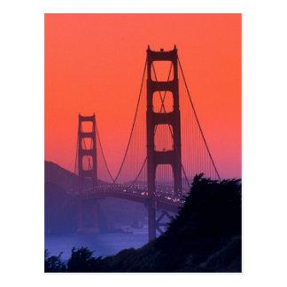 Golden Gate Sunset Postcard