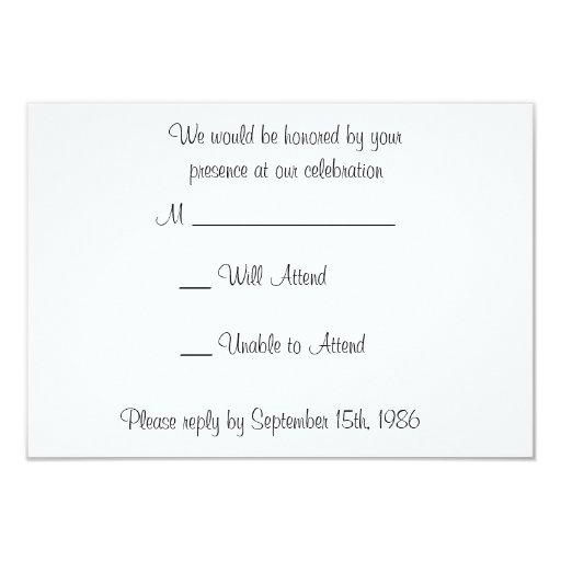 Golden Gate with Orange Flowers Wedding RSVP Cards 9 Cm X 13 Cm Invitation Card