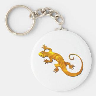 Golden Gecko Keychain