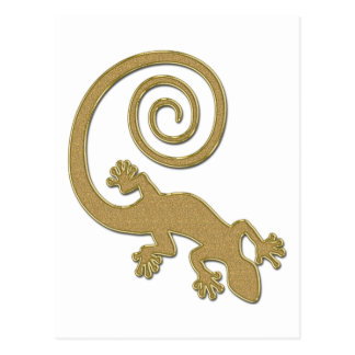 Golden Gecko | make your own background Postcard
