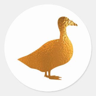 Golden Geese Classic Round Sticker