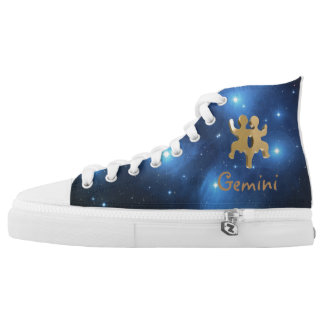 Golden Gemini Printed Shoes
