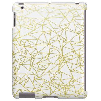Golden Geo Triangle Design iPad Case