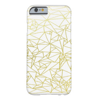 Golden Geo Triangle Design iPhone 6 Case Barely There iPhone 6 Case