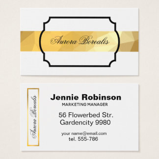 Golden geometric modern elegant business card