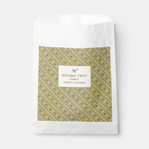 Golden Geometric Pattern, Modern Birthday Party Favour Bags