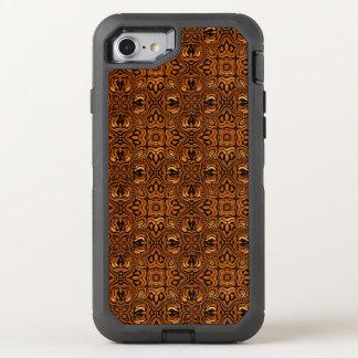Golden Geometric Tribal Pattern OtterBox Defender iPhone 7 Case