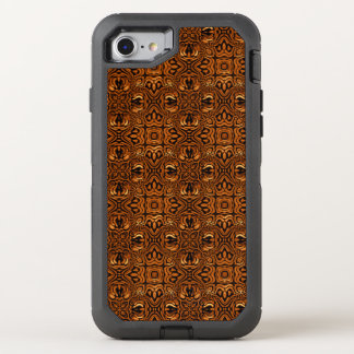 Golden Geometric Tribal Pattern OtterBox Defender iPhone 8/7 Case