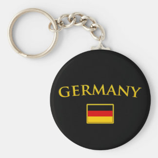 Golden Germany Basic Round Button Key Ring