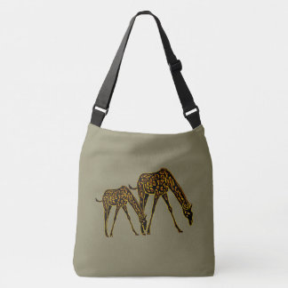 Golden Giraffes Crossbody Bag