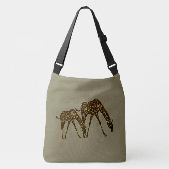 Golden Giraffes Crossbody Bag