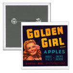 Golden Girl Apples Pin